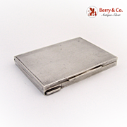 Art Deco Cigarette or Business Cards Case 800 Silver