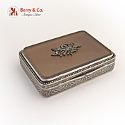 Agate Marcasite Box Engine Turned Germany 935 Silver