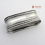Oval Napkin Ring Webster 1930 Sterling Silver