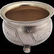 Russian Pot Open Salt Dish 84 Standard Silver