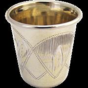 Russian Vodka Shot  1900 Standard 84 Silver