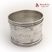 Napkin Ring Coin Silver 1876