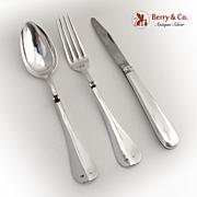 Travel Set Spoon Fork Knife 1890 Austrian 800 Silver