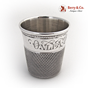 Only A Thimble Full Shot Simons Bros Sterling Silver