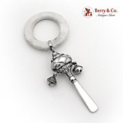 Baby Rattle 1986 Birmingham Sterling Silver