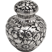 Repousse Salt Shaker Wood and Hughes Sterling Silver