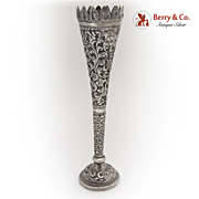 Russian Bud Vase 1900 Standard 84 Silver