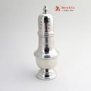 Colonial Revival Salt Shaker Genova Sterling Silver