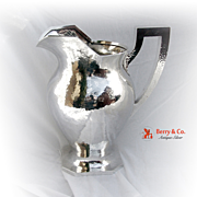 Hand Hammered Water Pitcher Shreve Sterling Silver