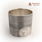 Medallion Napkin Ring 1890 Sterling Silver