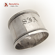 English napkin Ring 1920 Sterling Silver