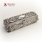 Ornate  Dresser Box Birmingham 1904 Sterling Silver