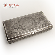Persian Engraved Box 1890 Standard 84 Silver