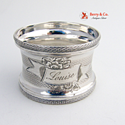Louise Napkin Ring 1879  Coin Silver