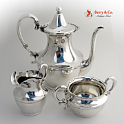 Dolores Tea Set 3 Pieces Shreve Sterling Silver