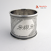 Victorian Aesthetic Napkin Ring Durgin Sterling Silver