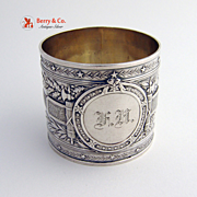 Embossed Napkin Ring 1890 Coin Silver