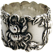 Art Nouveau Napkin Ring 1910 Sterling Silver