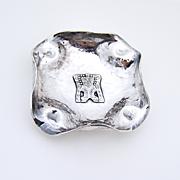 Peruvian Acteki Cigarette Ashtray Sterling Silver