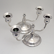 International Pair of Sterling Silver Double Candle Sticks 1940