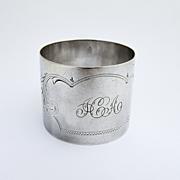Scroll Napkin Ring Gorham 1896 Sterling Silver