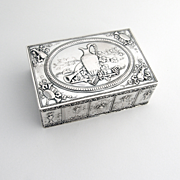 German Renaissance Revival Table Box 800 Silver 1920