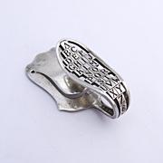 Abc Napkin Clip Sterling Silver Watson 1920