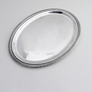 Oval Dresser Tray Fisher  Sterling Silver