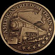 American Freedom Train Commemorative Medal Bronze 1975