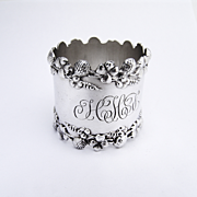 Clover Napkin Ring Sterling Silver 1890