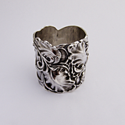 Art Nouveau Unger Brothers Napkin Ring Sterling Silver 1900