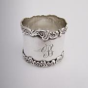 Ornate Scroll Wave Napkin Ring Sterling Silver Birks 1900