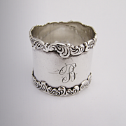 Ornate Scroll Wave Napkin Ring Sterling Silver Birks 1900