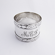 Arts and Crafts Napkin Ring Shreve 1915 Sterling Silver