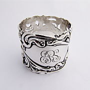 Scroll Open Work napkin Ring F. Whiting Sterling Silver