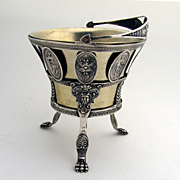 Medallion Swing Footed Basket 800 Silver 1860