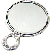 Tiffany Floral Scroll Hand Mirror Sterling Silver 1890