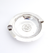 Coin Cigar Ashtray Peruvian 900 Silver Welsch 1920