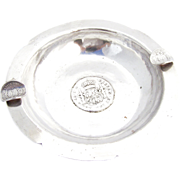 Coin Cigar Ashtray Peruvian 900 Silver Welsch 1920