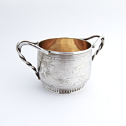 Aesthetic Open Sugar Bowl Sterling Silver Gorham 1878