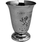 Lion Juice Cup Sterling Silver Manchester 1890
