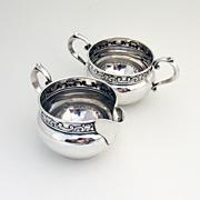 Strasbourg Creamer And Sugar Bowl Sterling Silver Gorham 1897