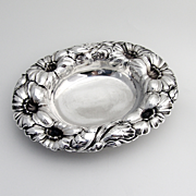 Ornate Repousse Gerber Serving Bowl Sterling Silver Watson 1910