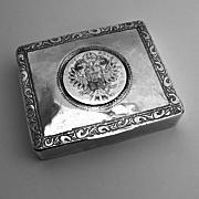 Maria Theresa Thaler Box 1880 Handmade Sterling Silver