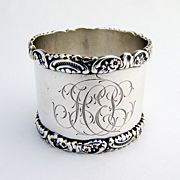 Floral Napkin Ring Wendell Sterling Silver