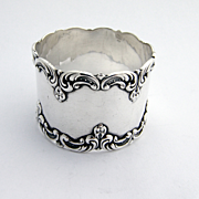 Scroll Napkin Ring Gorham Sterling Silver