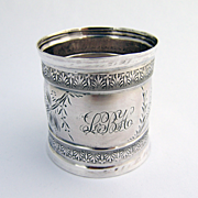 Coin Silver Aesthetic Napkin Ring 1880