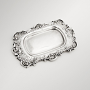 Scroll Floral Pin Tray Mauser Sterling Silver