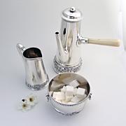 Tiffany Demitasse 3 Piece Coffee Set Sterling Silver 1890