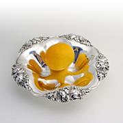 Ornate Poppy Medium Size Serving Bowl Sterling Silver Alvin 1900
